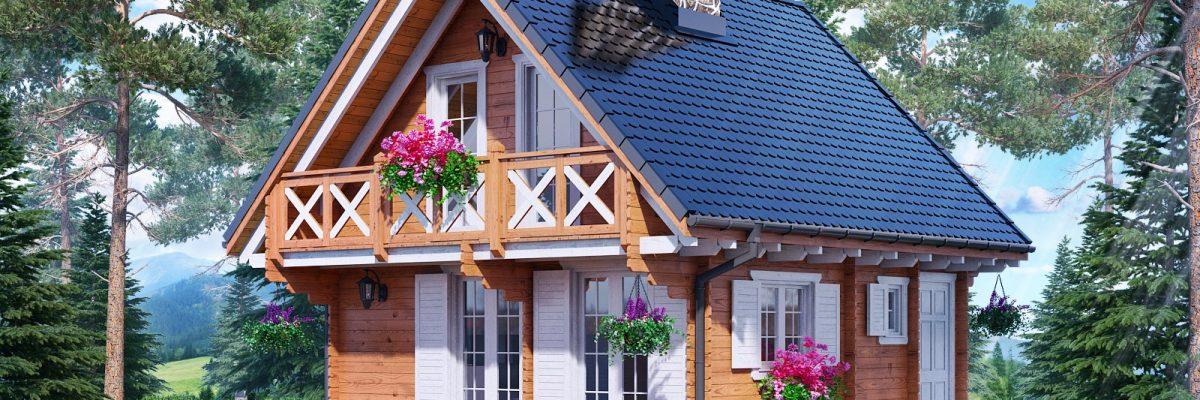 drewniany domek karolina